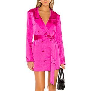 Lovers + Friends Kimber Blazer Dress Magenta M